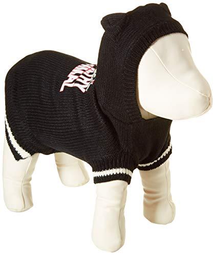 Animal-print Knit (Mirage Pet Products 621-16LGBK Ya Filthy Animal Bildschirm Print Knit Schwarz Pet Pullover, groß)