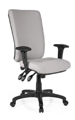 Hjh office zenit high sedia da ufficio/poltrona presidenziale, 100% poliestere, grigio