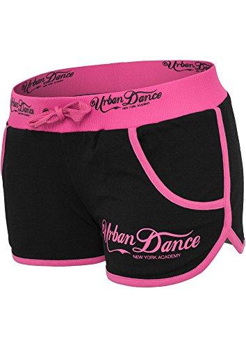 UD053 UD pantaloncini Sport Urban Classics Academy Hotpants delle donne blk/neonpink W34