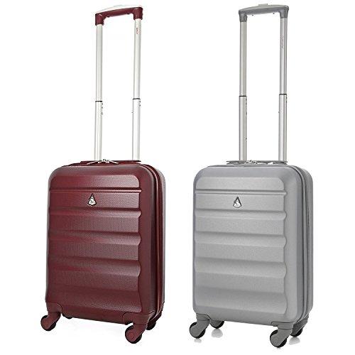 Aerolite ABS Bagage Cabine Bagage à Main Valise Rigide Légere à 4 Roulettes , Approuvées pour Ryanair Easyjet Air France Lufthansa Jet2 Monarch et Plu...