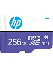HP Micro SD Card 256GB with Adapter U3 (Purple) (Write Speed 60MB/s & Read Speed 100 MB/s Records 4K UHD and Fill HD Video)