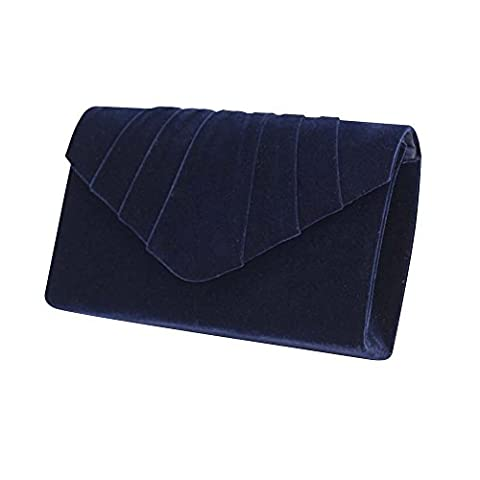 Wocharm Brand New Luxury Womens Ladies Pleated Suede velvet Clutch