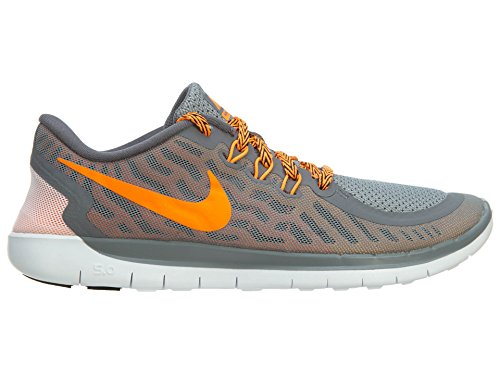 Nike Free 5.0 (Gs) Scarpe da corsa, Bambine e ragazze, Multicolore (Hypr Grape/Ghst Grn-Mtllc Slvr), 37 1/2 Grey