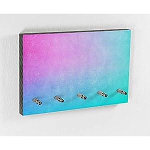 Schlüsselbrett | Disco | Color Flow | 5 Haken | Bunt | Farbverlauf | Moderner Style | Wohntrend | Hakenleiste | Flur | Wohnen mit Farbe