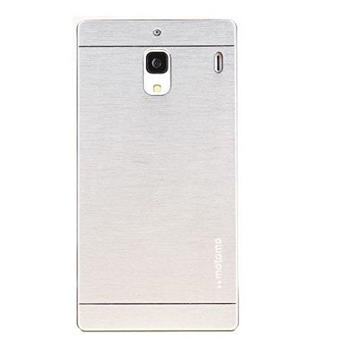 Cubezap Motomo Full Metal Designer Protective Hard Back Case Cover for Xiaomi Redmi 1S Xiomi Redmi1S - Silver