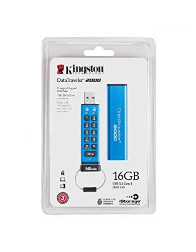 Kingston Datatraveler 256 (Kingston DataTraveler 2000 - DT2000/16GB verschlüsselter USB 3.0 Speicher (mit Tastatur))