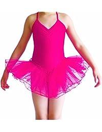 Imixcity Filles Justaucorps Robe de Danse Tutu Ballet sans Manches Princesse  Fancy Fairy Gymnastique Performance 3 1c0f31acd62