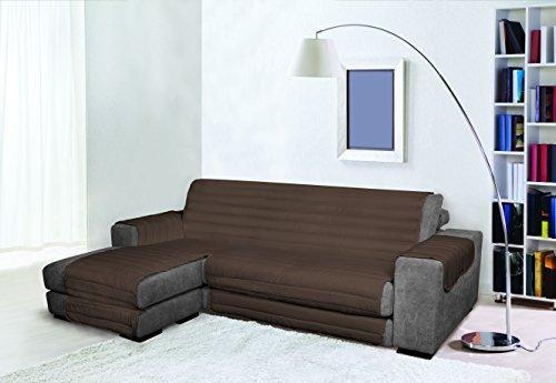 Trendy Copridivano con Penisola, Marrone, 190 cm