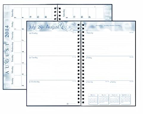 House of Doolittle Academic Weekly Planner, Student Assignment Book 13 Months August 2014 to August 2015, 5 x 8 Inches, Tiger Design Recycled Materials Made in the USA
