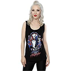 Suicide Squad mujer Harley Quinn Daddy's Lil Monster Camiseta Small Negro