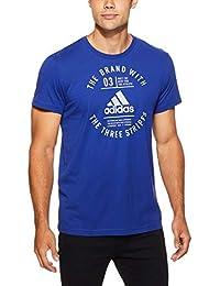 5dbb7e6ee8758 adidas Emblem Camiseta Cuello Redondo Manga Corta Algodón - Camisas y  Camisetas (Camiseta