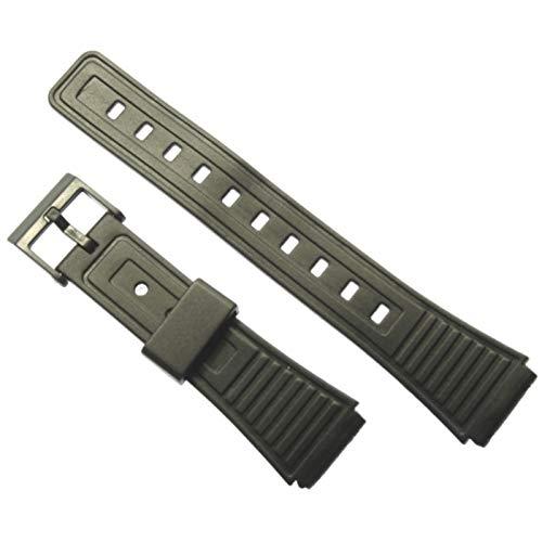BVC - Correa de reloj de caucho negro 18 mm