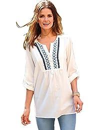 8b029e6fd931f VENCA Camisa canesú Delantero Bordado Mujer by Vencastyle - 014047