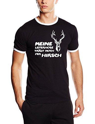 Meine Lederhose trägt noch der Hirsch ! T-Shirt schwarz_HERI RINGER Gr.S