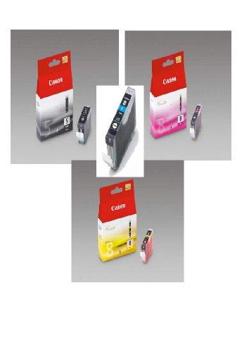 4 Original Canon Druckerpatronen für Canon Pixma iP3300 iP3500 iP4200 IP4300 iP4500 iP5100 iP5200 iP5200R iP5300 ix4000 ix5000 MP500 MP510 MP520 MP530 MP600 MP600R MP610 MP800 MP800R MP810 MP830 MP950 MP960 MP970 MX700 MX850 (Black/Photoblack/Cyan/Yellow/Magenta) Tintenpatronen (Canon Pixma Mp970)