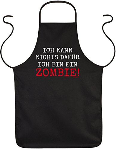 Grill und Kochschürze für Halloween - Ich kann nichts dafür ich bin ein Zombie - Gruseliger Kittel (Kittel Halloween)