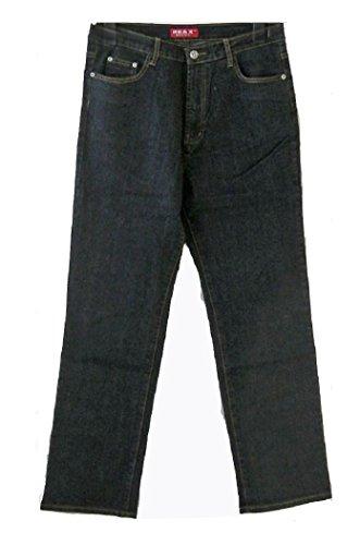 RE&X Herren Jeans Hose Blau Schwarz Größe 44 46 48 50 52 54 56 58 60 62 64(Schwarz,58,13B 2341 MG) (58x30 Herren Größe Jeans)