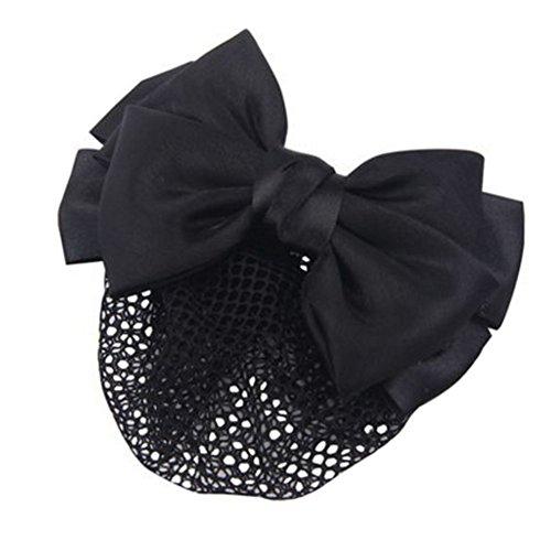 3pcs Bow Tie barette cheveux clip Snood Net coiffure pour les femmes, F