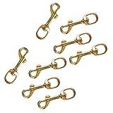 Sharplace 8er Set Messing Karabiner Karabinerhaken mit Drehgelenk Schlüsselanhänger Hundehalsband Haken
