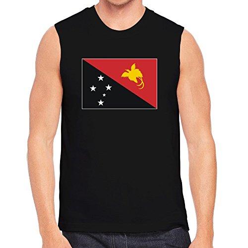 Teeburon Papua New Guinea Flag Ärmel T-Shirt -