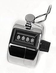 SaySure - Chrome Counter 4-Digit Clicker Hand Tally Golf #9958 - GMN-BG-SPT-000530