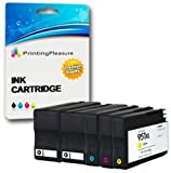 Printing Pleasure 5 Tintenpatronen kompatibel zu HP 950XL HP 951XL für HP Officejet Pro 8600 8610 8620 8630 8640 8100 8110 8625 8615 8660 251dw 276dw - Schwarz/Cyan/Magenta/Gelb, hohe Kapazität