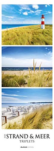 Strand & Meer Triplets 2020 - Beach & Ocean - Streifenkalender XXL (25 x 69) - Küste - Landschaftskalender - Natur - Bildkalender - Wandkalender