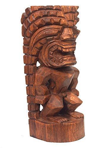 Interlifestyle Kleine Tiki Figur 20cm aus Holz in Handarbeit gefertigt Tiki God Hawaii Skulptur Osterinsel Polynesien