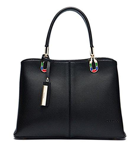 """Xinmaoyuan Borse donna borse Big Bag """" commuter """" Borsa della benna borsa a tracolla Nero"""