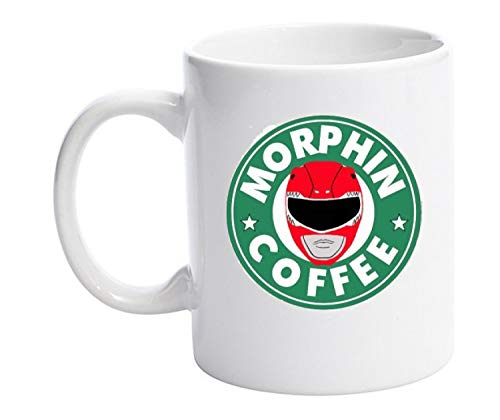 Leinwanddruck Power Rangers Starbucks Parodie 313ml Tasse Tassen, Qualität Design Funny