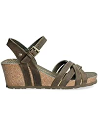 Panama Jack Mujer Sandalias de cuña Vera Basics, señora Zapatos ...