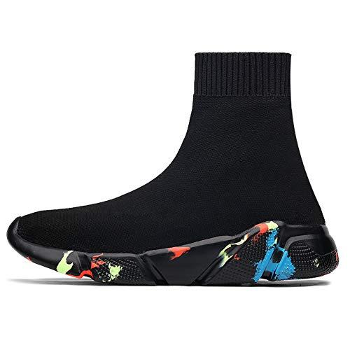 OHOLXMZ Calcetines Altos de Marca Calcetines de Hombre Calzado sin Cordones Calzado Casual para Hombre...