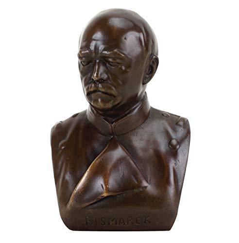 Kunst & Ambiente - Bronzefigur/Bronzebüste - Otto von Bismarck Bronze Büste - signiert - Reichskanzler - Deko Figur