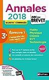 Annales ABC du BREVET 2018 - Epreuve 1