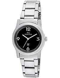 Maxima Attivo Analog Black Dial Women's Watch-28021CMLI