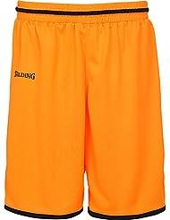 Spalding Move Pantalones Cortos Naranja de baloncesto para niños, color naranja / blanco, tamaño extra-large