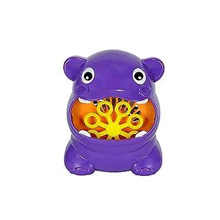 Oasics Automatische Blase Maschine, Kinder Spielzeug Hippo Form Blase Maschine Hersteller für Kinderspielzeug, geeignet für Jungen und Mädchen (Lila) (Lila)