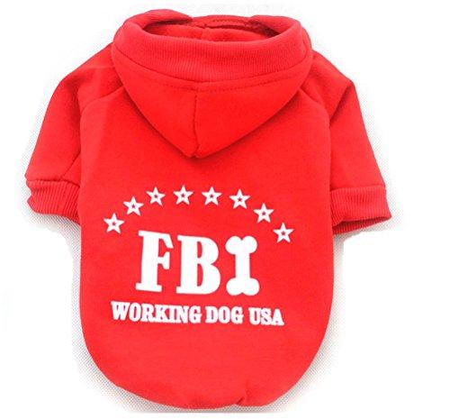scrox FBI Puppy Hund Sweatshirts niedlichen Doggy Jacke Mantel Kapuzenjacke Pets Hot Hund Puppy Pullover, baumwolle, stlye 12, M (12 Stück Baumwolle Bath)