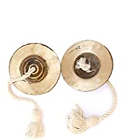 Jhanjh Percussion InstruMant Indian Musical Instrument Hand Made Cymbal Pair Ideal For New Year Anniversary BirthDay Gift For Girl Woman Boy Man
