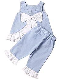 SMARTLADY 2-5 Años Niñas Niños Chaleco sin mangas + Pantalones