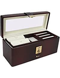 Richpiks Jewellery Accessories Box Brown Shaded Color With Clasp Lock - Bank Locker Size