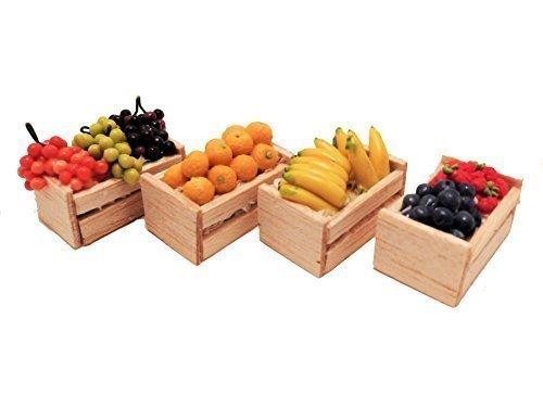 MELODY Jane Casa De Muñecas Cajas de fruta Frutería Cajas TIENDA Tienda Accesorio