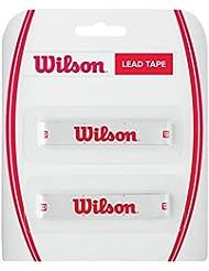 Wilson Lead Tape - Cinta de plomo para raqueta , color blanco/rojo, talla NS