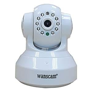 Wanscam Webcam réseau sans fil JW0012 Mini caméra CCTV WiFi WPA Adresse IP Internet pour la surveillance de la maison Blanc