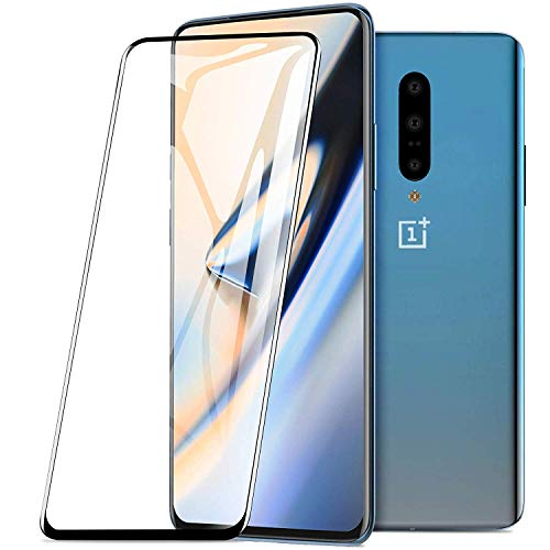Jump Start OnePlus 7 Pro Edge to Edge Full Coverage 5D Screen Protector Tempered Glass (9H Hardness) (Bubble-Free) Full Glue Easy Install for oneplus 7 Pro Launch (Black)