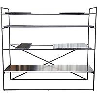 Comparador de precios Casa-Padrino Mueble de Sala de Estar de Lujo Negro 110 x 45 x H. 100,5 cm - Armario de diseño - precios baratos