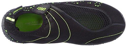 AQUA-SPEED Chaussures de l'eau chaussures de surf/pantoufles Aquashoe 15-2014 noir/vert