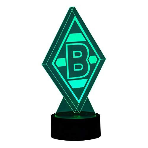 Borussia Mönchengladbach LED Lampe Raute, Leuchte Logo BMG - Plus Lesezeichen I Love Mönchengladbach