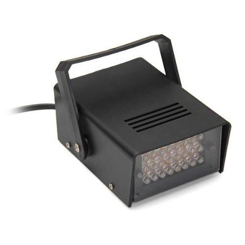 5W DJ Lampada Strobo 24 LED Luce Bianco AC100V-240V per Discoteca Bar KTV (Compleanno Speciale Piastra)