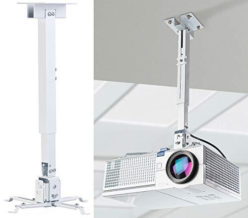 dream audio Deckenhalter Beamer: Universal-Wand- und Decken-Halterung für Beamer, 43 bis 65 cm Tiefe (Beamer-Aufhängung)